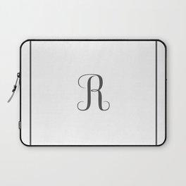 Monogram Letter R in Dark Grey Laptop Sleeve