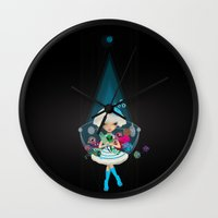monster hunter Wall Clocks featuring hunter by Anne  Martwijit