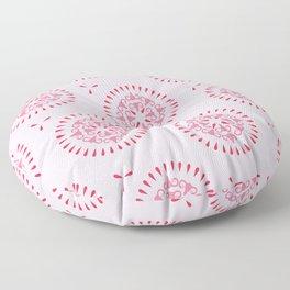 Uteri, Period. In pink Floor Pillow