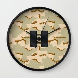 Captain (Desert Camo) Wall Clock