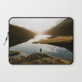 Sunrise in Switzerland Laptop Sleeve