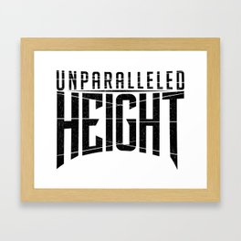 Unparalleled Height Logo Framed Art Print
