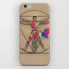 Vitruvian Man and a Burst of Color iPhone Skin