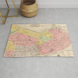 Vintage Map of Boston MA (1876) Rug
