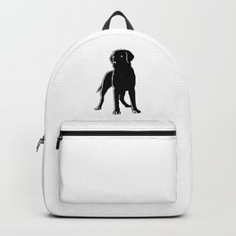 Dog Black Silhouette Pet Animal Cool Style Backpack