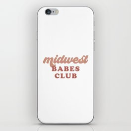 Midwest Babes Club iPhone Skin