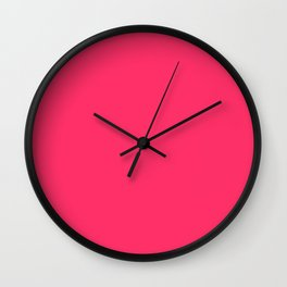 Curves in Black & Royal Blue ~ Pink Wall Clock