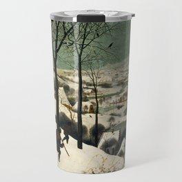 The Hunters in the Snow - Pieter Bruegel the Elder Travel Mug