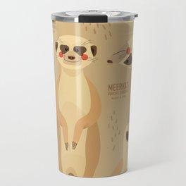 Meerkat, African Wildlife Travel Mug
