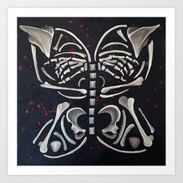 Butterfly Skeleton Art Print