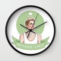 niall horan Wall Clocks featuring Niall Horan by vulcains