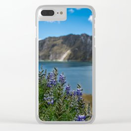 Quilotoa Flowers Clear iPhone Case