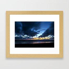 Nocturnal Cloud Spectacle on Danish Sky Framed Art Print