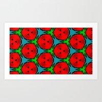 funky berry  Art Print