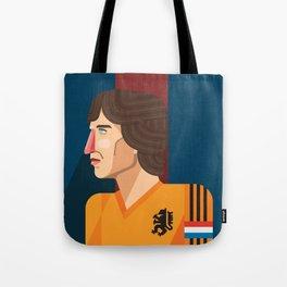 Johan Cruyff, The Godfather of Modern Football Tote Bag
