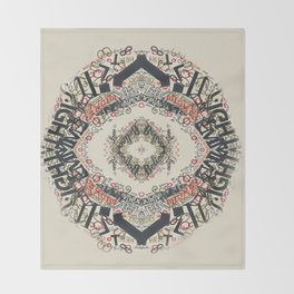 Radial Typography Throw Blanket