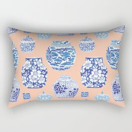 Chinoiserie Ginger Jar Collection No. 1 Rectangular Pillow