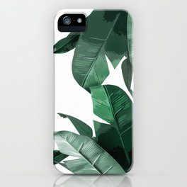 Banana Leaf Print iPhone Case