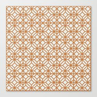yellow pattern Canvas Prints featuring Yellow Pattern by Caite Schultz