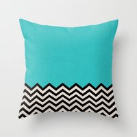 dance Throw Pillows featuring Follow the Sky by Bianca Green