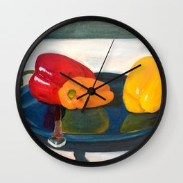 Bell Peppers Wall Clock
