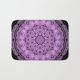 Mandala Project 234 | Pink Filigree & Hearts Bath Mat