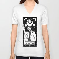 sagan V-neck T-shirts featuring HAIL SAGAN! by LADYMAGICUNICORN