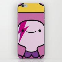 princess bubblegum iPhone & iPod Skins featuring Princess Bubblegum  by lapinette