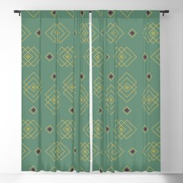 Sorta Exclamation Points Seamless Pattern Blackout Curtain