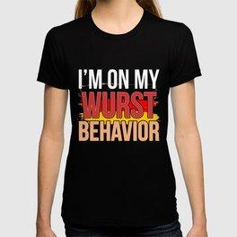 Wurst Behavior Oktoberfest T-Shirt - Funny German Gift T-shirt