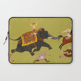 Jai Singh's elephant Pakhrao, gone amuck - Vintage Indian Art Print Laptop Sleeve
