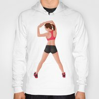 fitness Hoodies featuring Pin Up Sports Fitness by Gerome Hajost