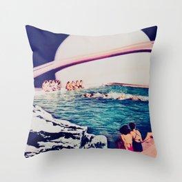 Spa of Saturn Throw Pillow