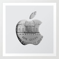 apple Art Prints featuring Apple by David Bastidas