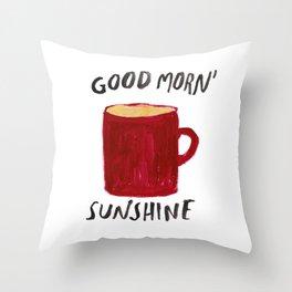 Coffee Is My Sunshine Throw Pillow
