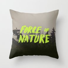 Force of Nature x Cloud Forest Throw Pillow