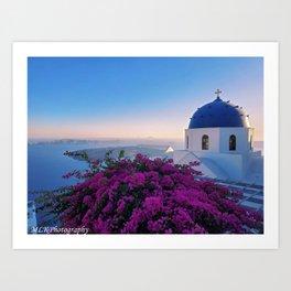 The Beauty of Santorini Art Print