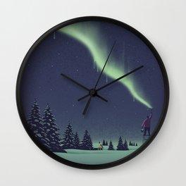 Winter Painting Wall Clock