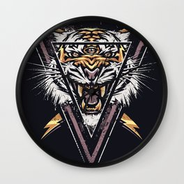 Thee-eyed Tiger Wall Clock