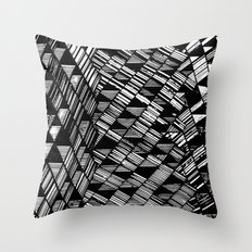 Moving Panes Black & White Throw Pillow