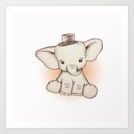 Peewee Elephant Art Print