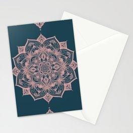 Dark Green Mandala - Hygge Modern Style Stationery Cards