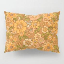Flower power soft Apricot Pillow Sham
