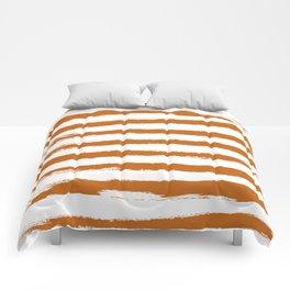 Autumn Maple STRIPES Handpainted Brushstrokes Comforters