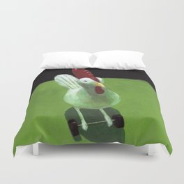 Toy Chicken Duvet Cover