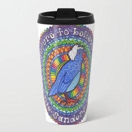 Bernie Sanders Birdie Mandala  Travel Mug