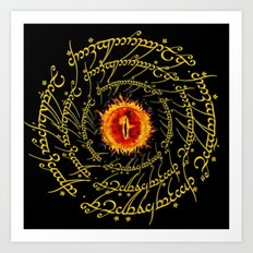 Lord Of The Ring Sauron eye Art Print