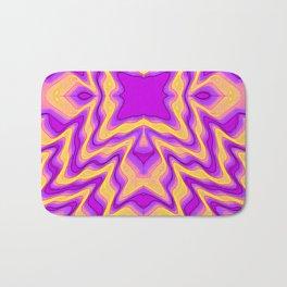 yellow purple Bath Mat