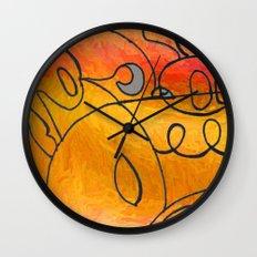 Curves at Sunset Wall Clock