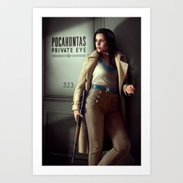 Pocahontas - Private Eye Art Print